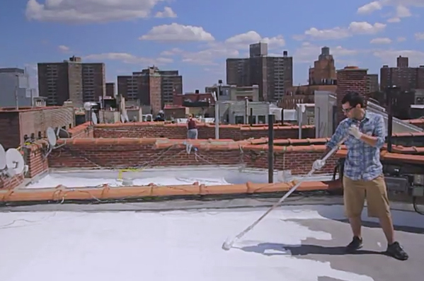Clip of the Day: Painting Out Climate Change, One Roof at a Time