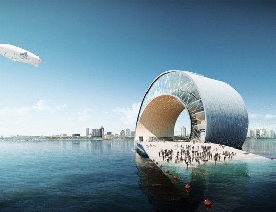Wave Pier by Mesh Architects Swirls from the Florida Shoreline Like a Roller Coaster