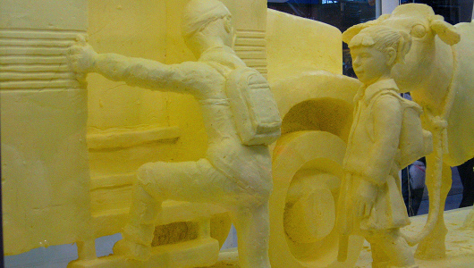 Giant butter sculpture to power a farm for three days