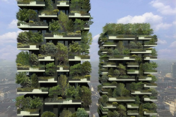 World's First Vertical Forest Under Construction in Milan