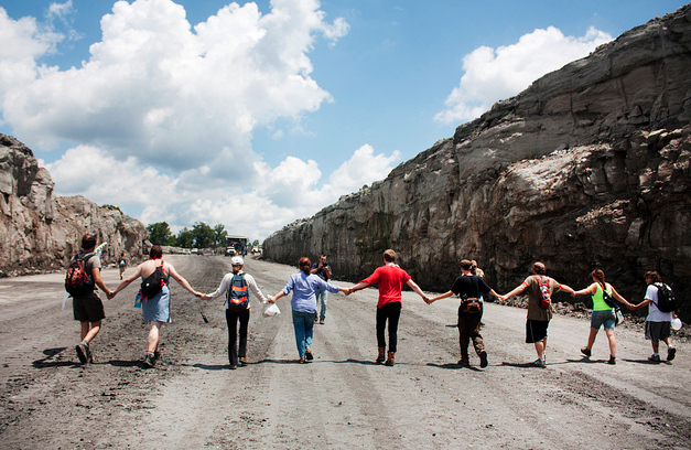 Breaking: Daring Protesters Shut Down Obama Backed Strip Mine In West Virginia