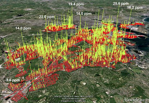 Mapping Gas Leaks from Aging Urban Pipes