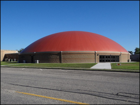 It's a sports dome and a hurricane shelter all in one