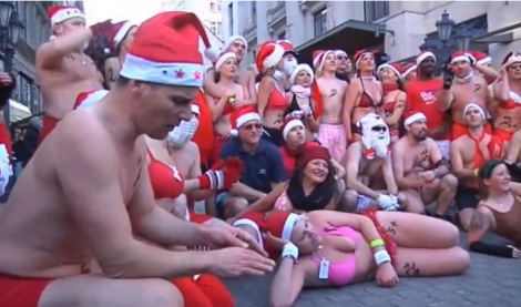 Half-naked Santas give us a glimpse of a climate-changed Christmas
